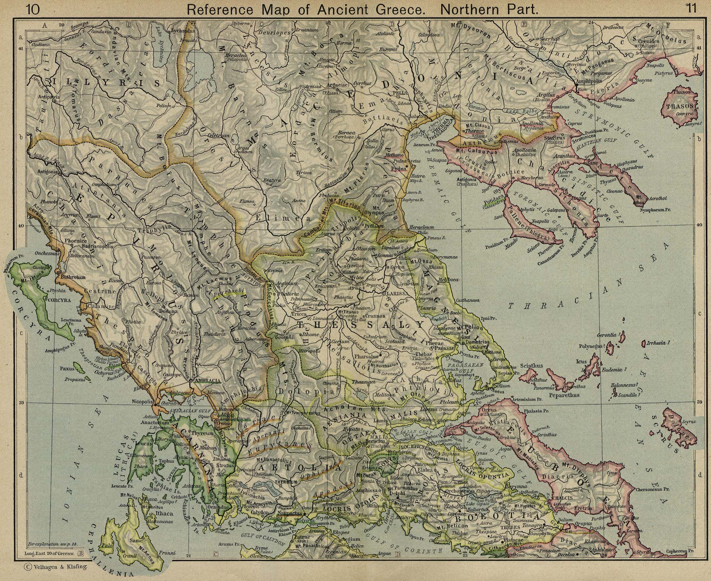 Reference map of ancient greece northern part maps pinterest get better acquainted with ancient greece with this collection of maps showing features of its layout and landscape gumiabroncs Images