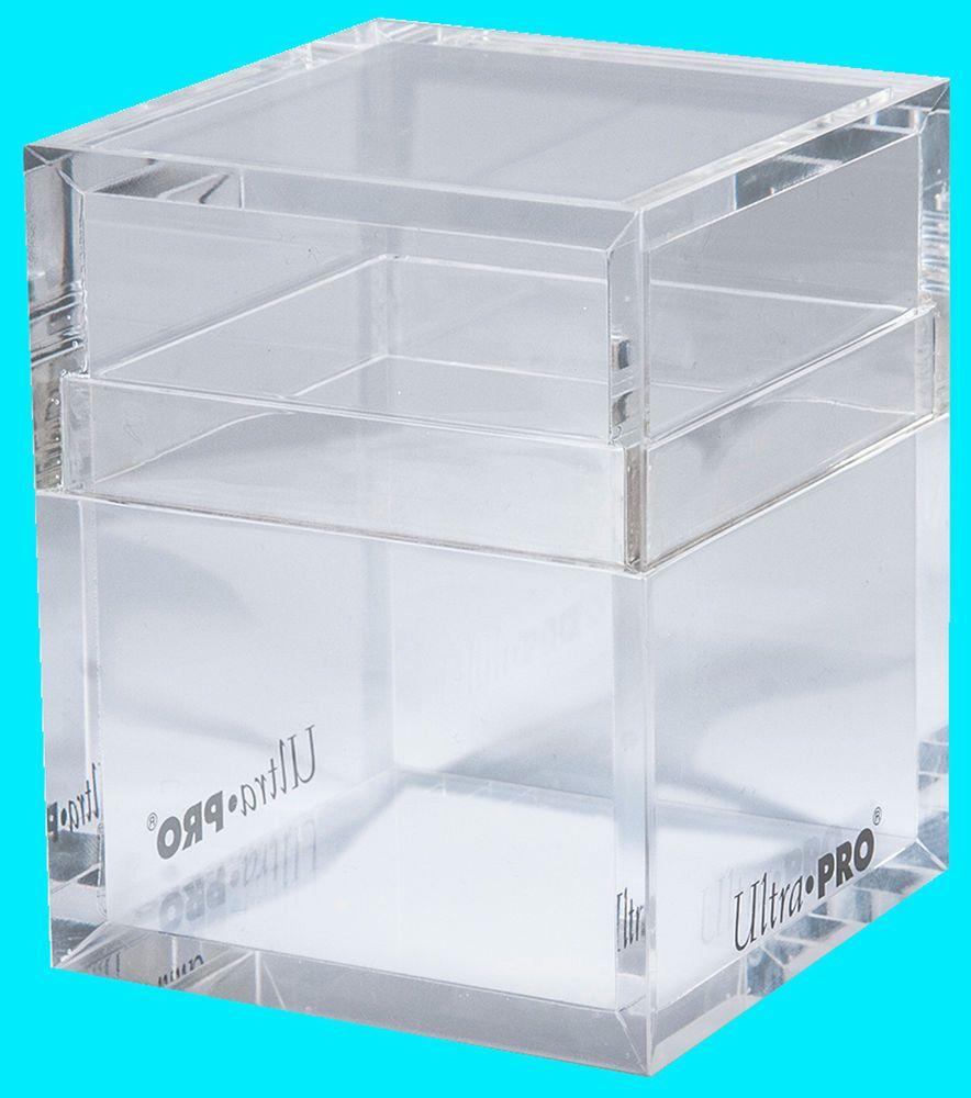 ULTRA PRO METALLIC ICE SATIN TOWER DECK BOX New Card Dice Compartment MTG Case