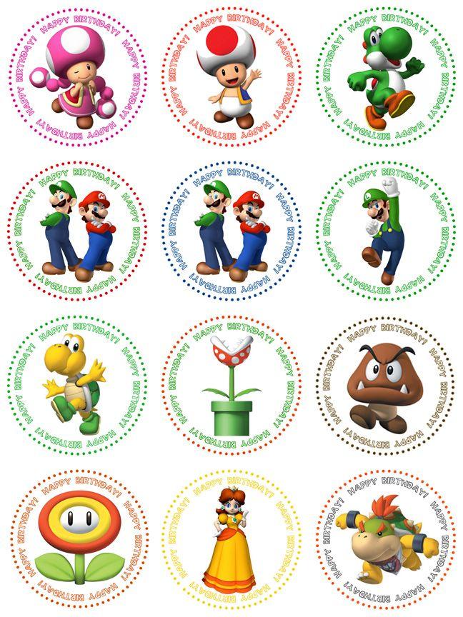 More Cupcake Toppers Anniversaire Super Mario Anniversaire