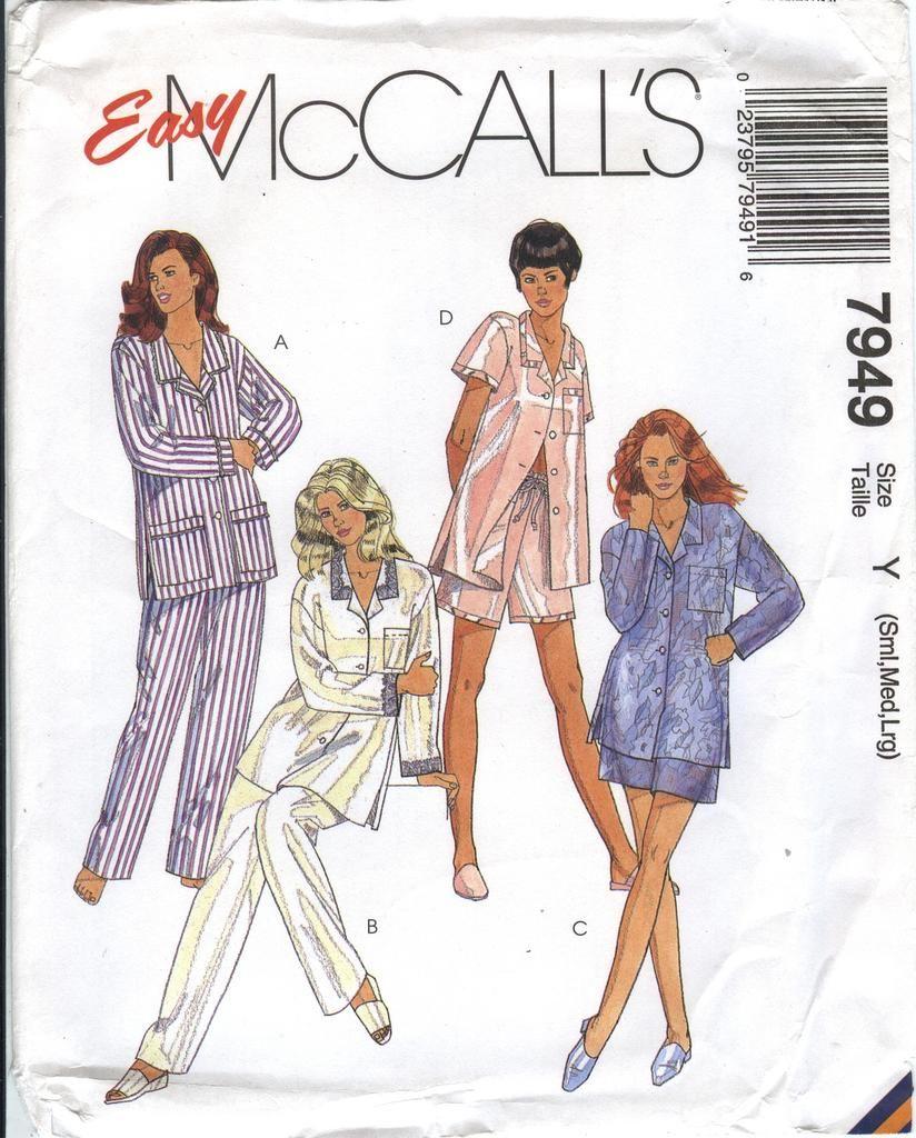 McCall\'s 7949 Misses\' Sleepwear and Pajamas