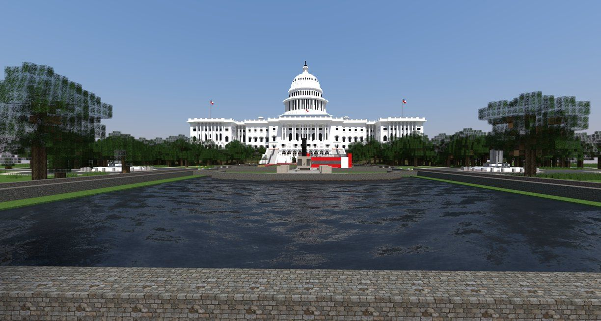 [Minecraft] Washington Capitol by Yazur.deviantart.com on @DeviantArt