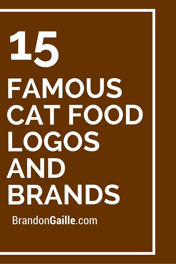 15 Famous Cat Food Logos And Brands Logo Food Cat Food Food