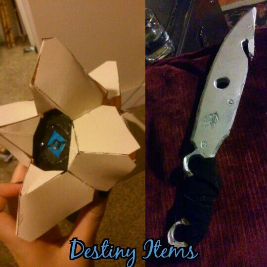 Destiny Ghost and Hunter knife made of cardstock and foamcore by me!