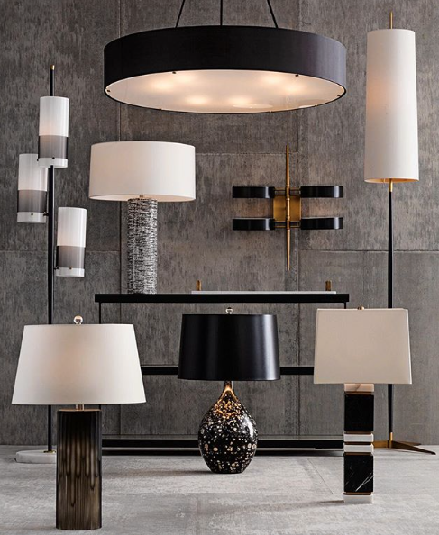 Arteriors dustin table lamp black and white marble lighting arteriors dustin table lamp black and white marble aloadofball Image collections