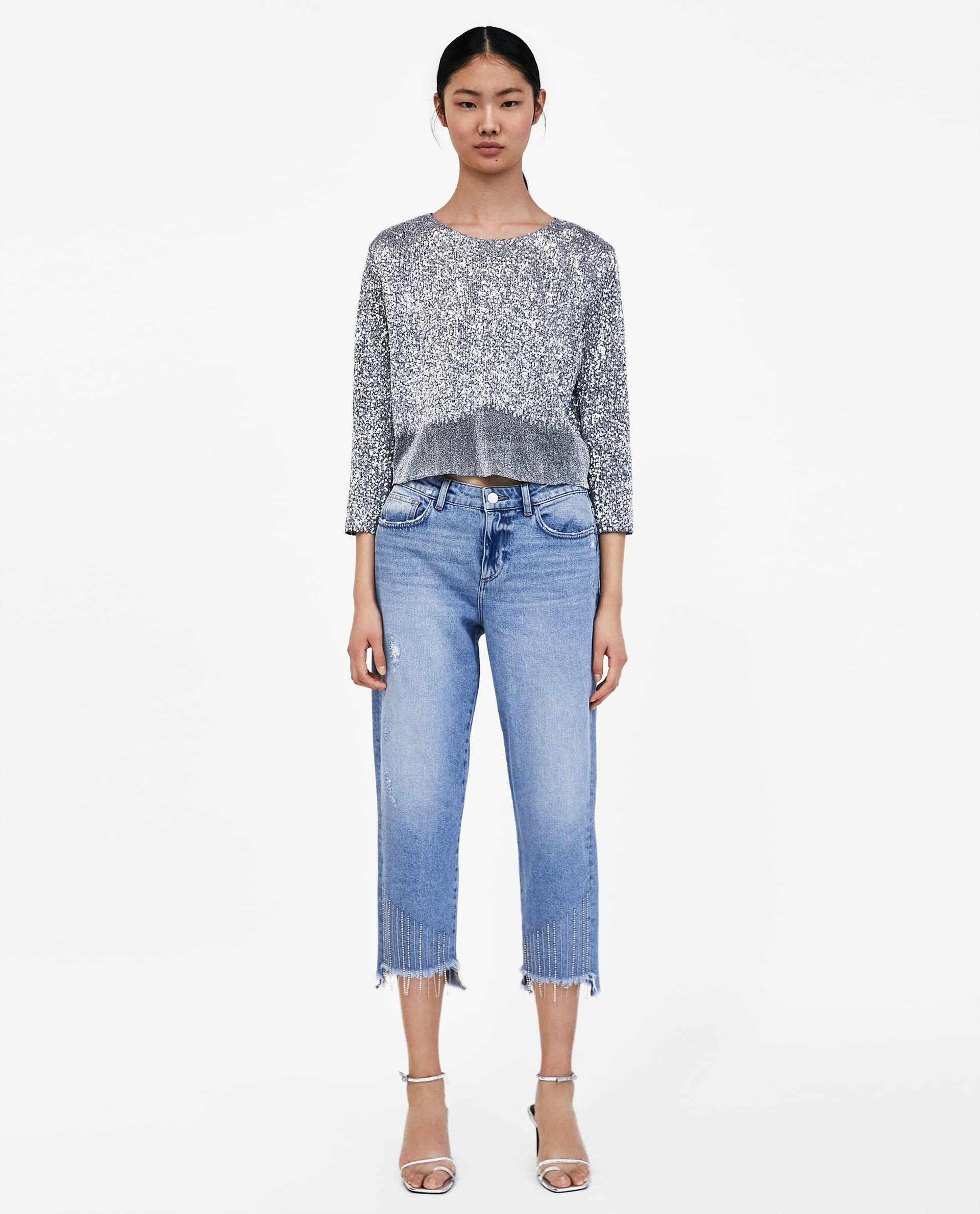 7e5b0e84f8 Tie-dye z1975 skinny jeans in 2019 | ZARA 2018 | Jeans, Jeans with ...