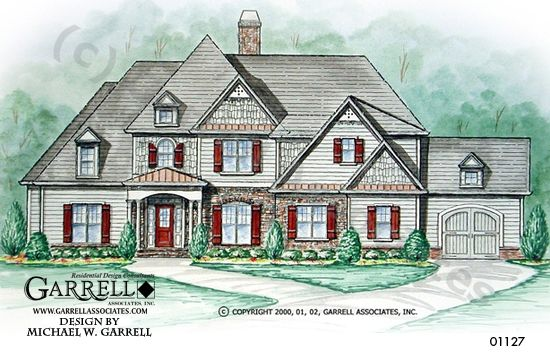 Garrell Associates, Inc.Beau Calais House Plan 01127, Front Elevation, Traditional Style House Plans, Mountain Style House Plans, (4,048) Design by Michael W. Garrell