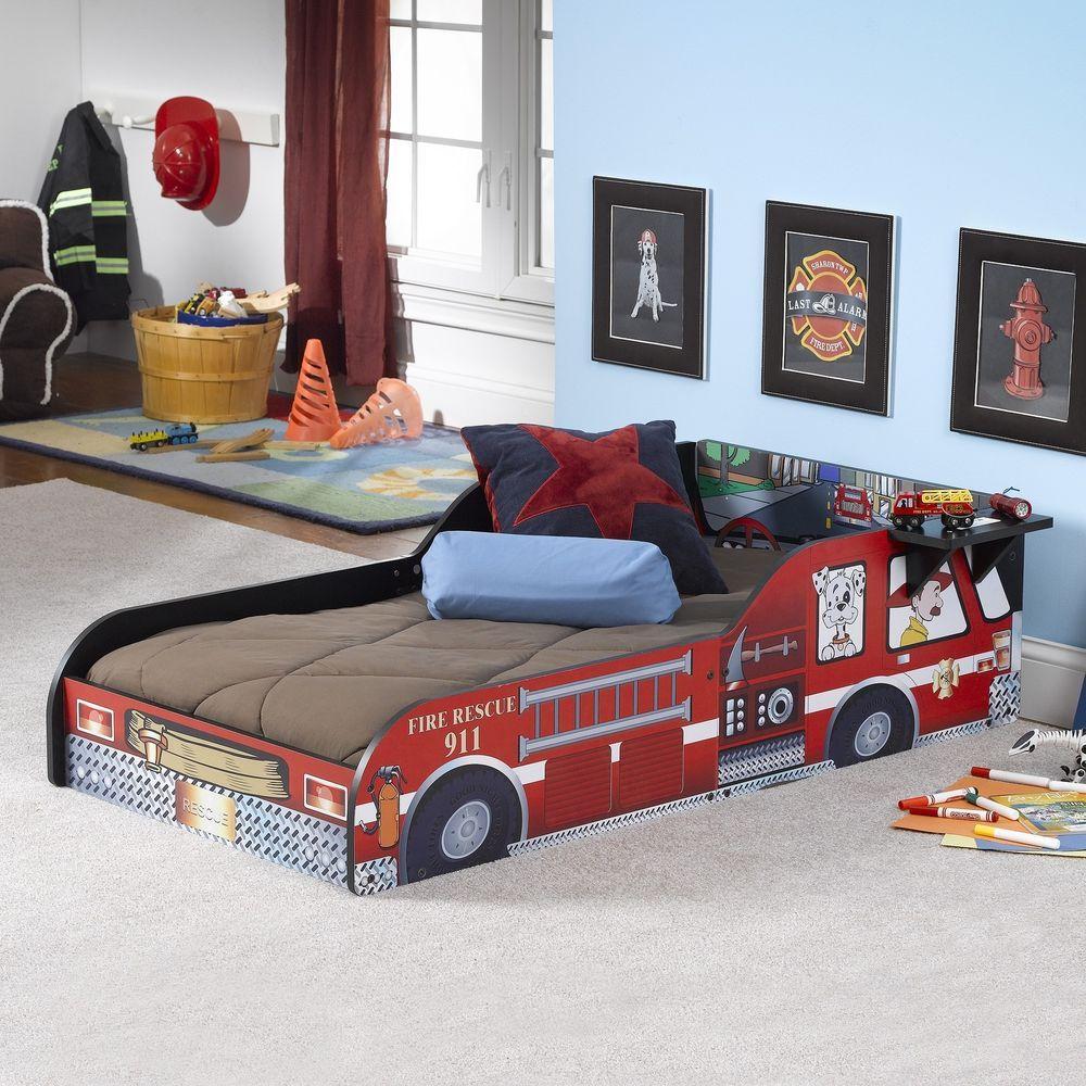 Toddler Bed Frame For Firemen Kids Beds Fire Truck For Boys Girls Enclosed Sides Unbranded Truck Toddler Bed Toddler Bed Frame Toddler Bed