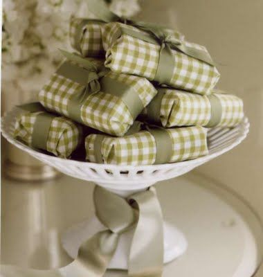 soaps on a cake stand or candy dish