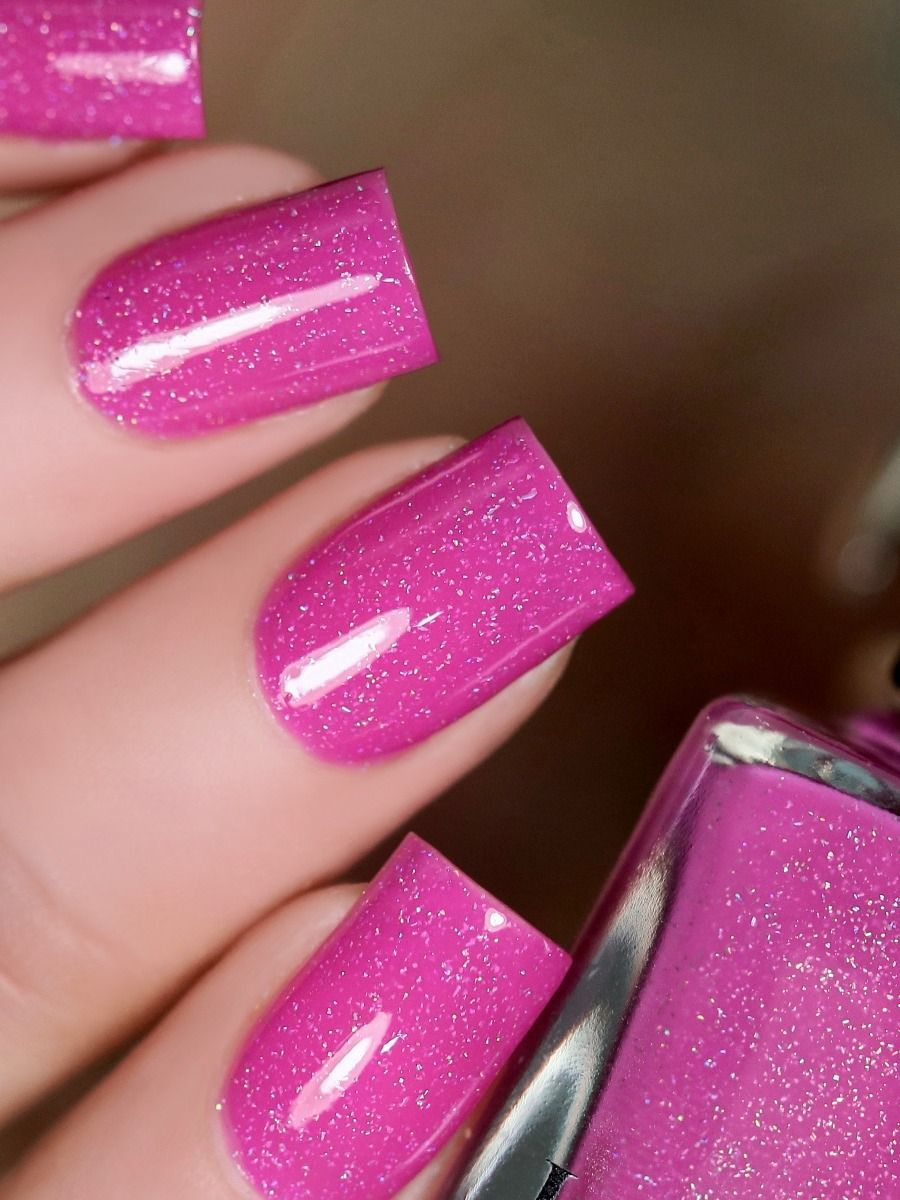 Party Hat - Deep Cerise Pink Holographic Nail Polish by ILNP