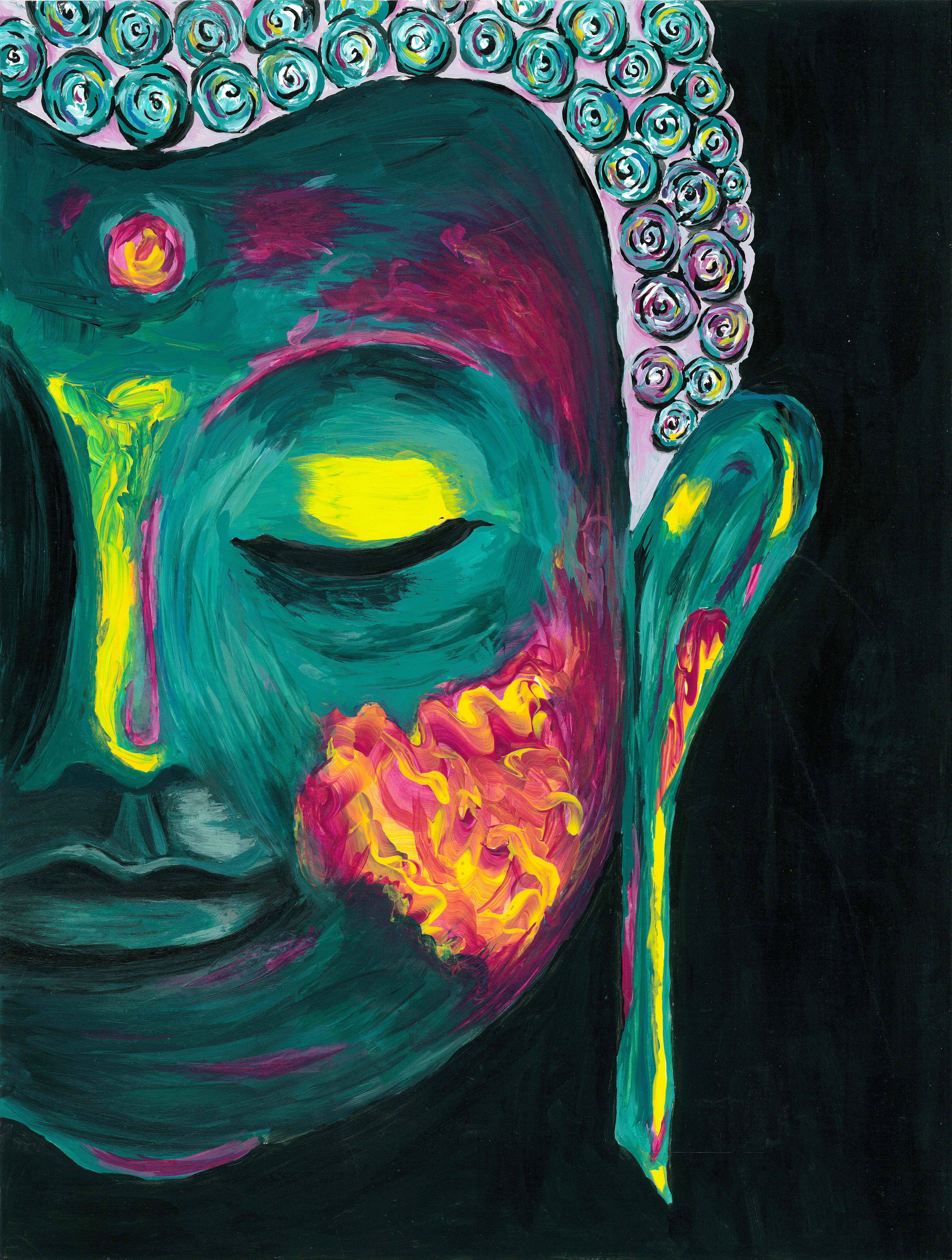 Buda / Acrílico · | quadros | Pinterest