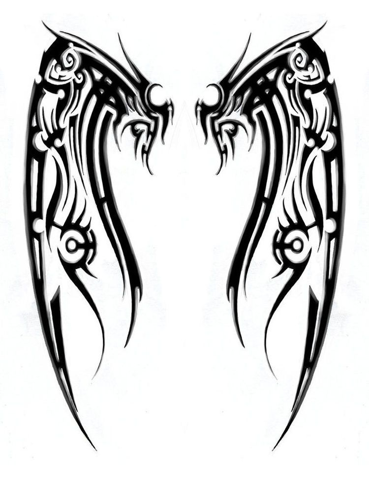 Tribal Angel Wings Google Search Tattoos Pinterest Tattoos
