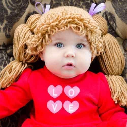 Gorrito De Crochet Estilo Cabbage Patch Trencitas Largas | Niñas ...