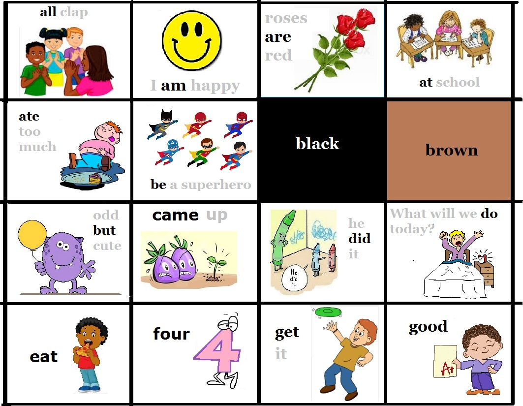 FREE to print - picture sight words - primer - kindergarten 1 -Dolch / Fry flash cards with pictures - sight words Please let me know if your image has been used. I tried to only include free images. Teach Reading