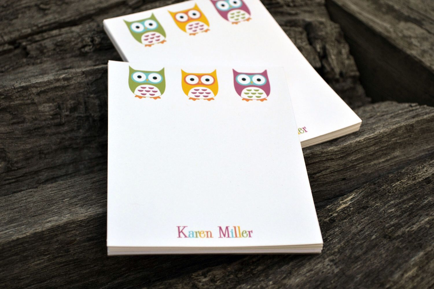 personalized notepads personalized owl notepads personalized