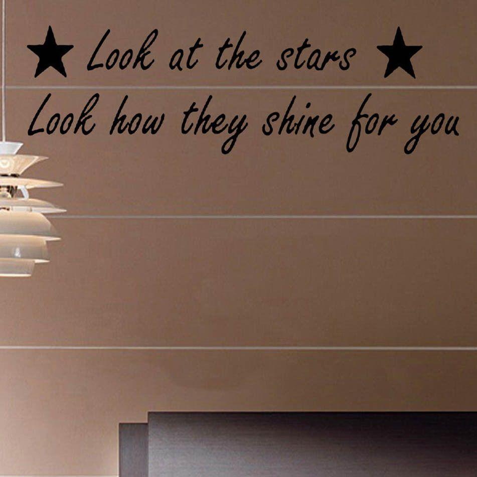 Look at the Stars Coldplay Song Music Lyrics Decal Vinyl Wall ...
