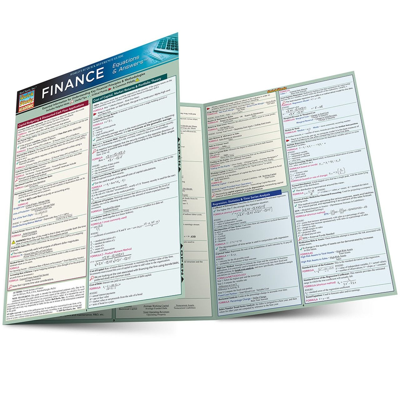 Finance equations answers laminated study guide