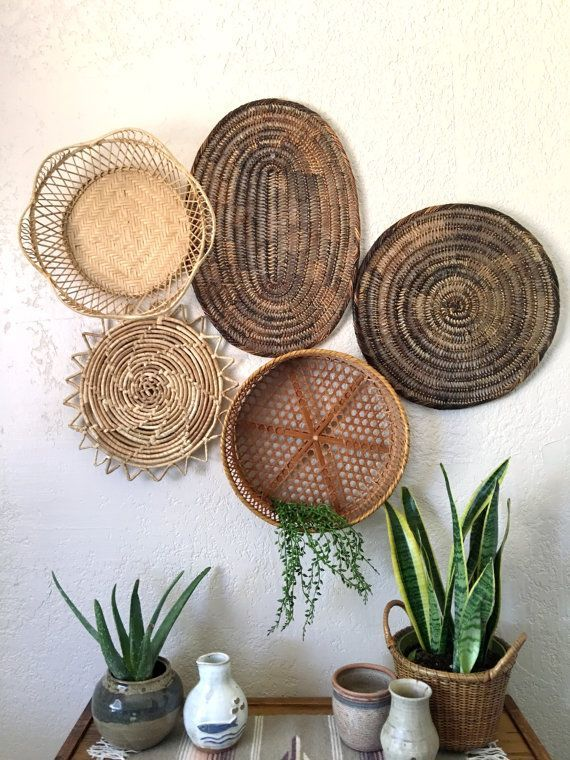 Round Baskets Wall Decor Round Baskets To Hang Wall On