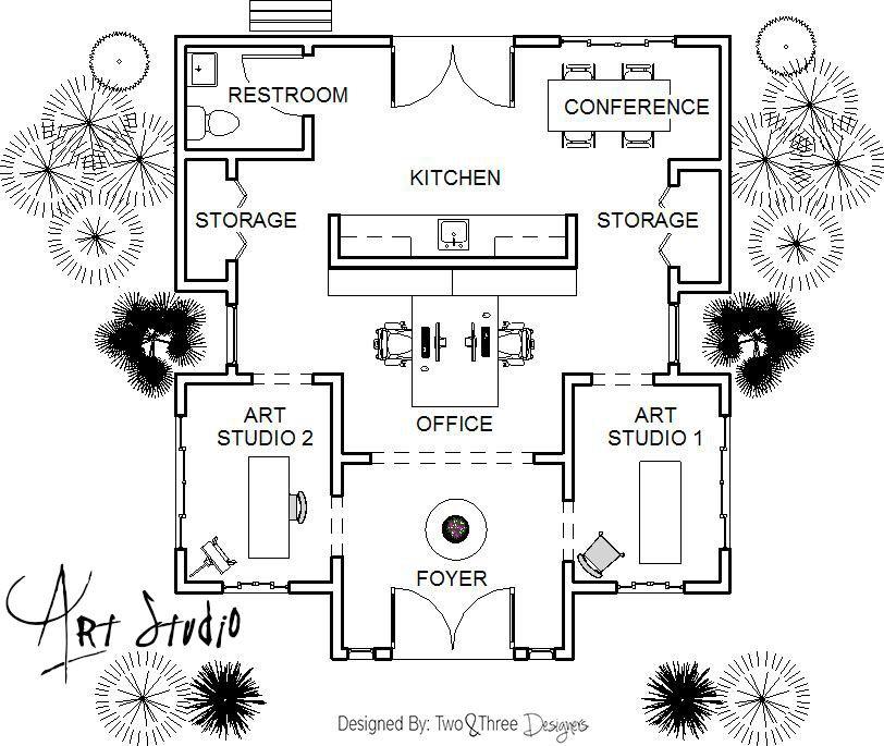 Let S Make Art In This Art Studio Htttp Www Twoandthreedesigners Com Studio Floor Plans Art Studio At Home Art Studio