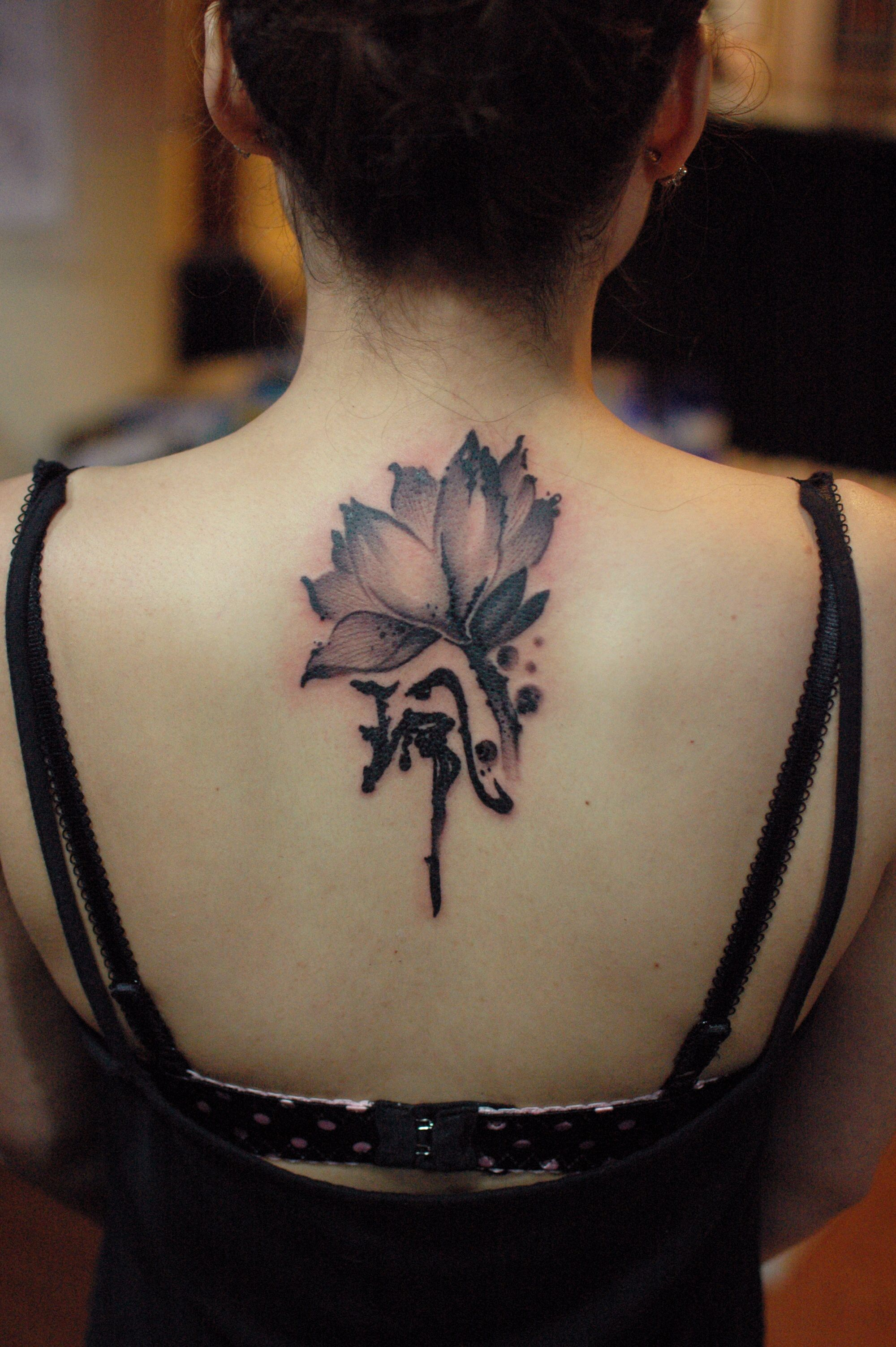 Chinese ink brush lotus tattoo by hong kong tattoo artist f cheung chinese ink brush lotus tattoo by hong kong tattoo artist f cheung izmirmasajfo