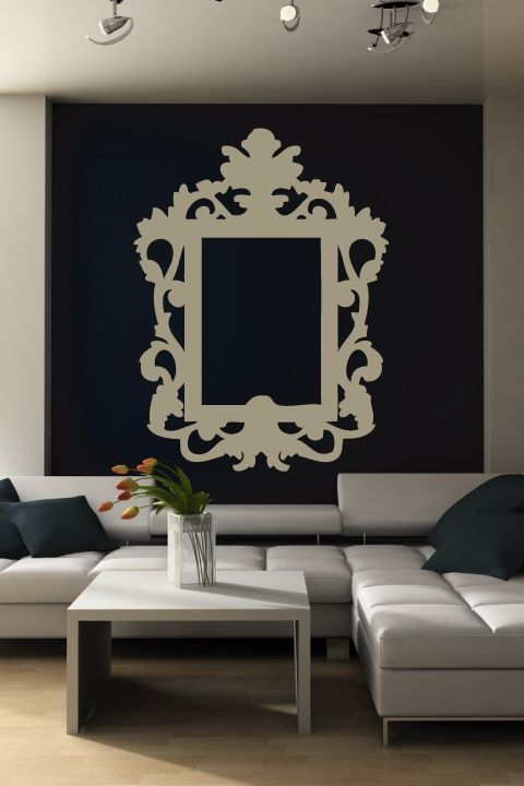 baroque frame baroque wall decal from walltat we could have a decal