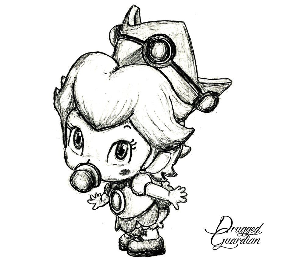 Image Result For Baby Peach Drawing Mario Kart 8 Drawings Art Drawings Art