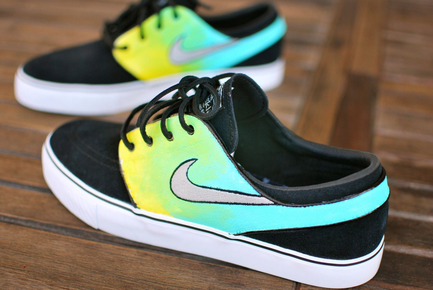 These Custom Nike Zoom Stefan Janoski skate shoes features my hand