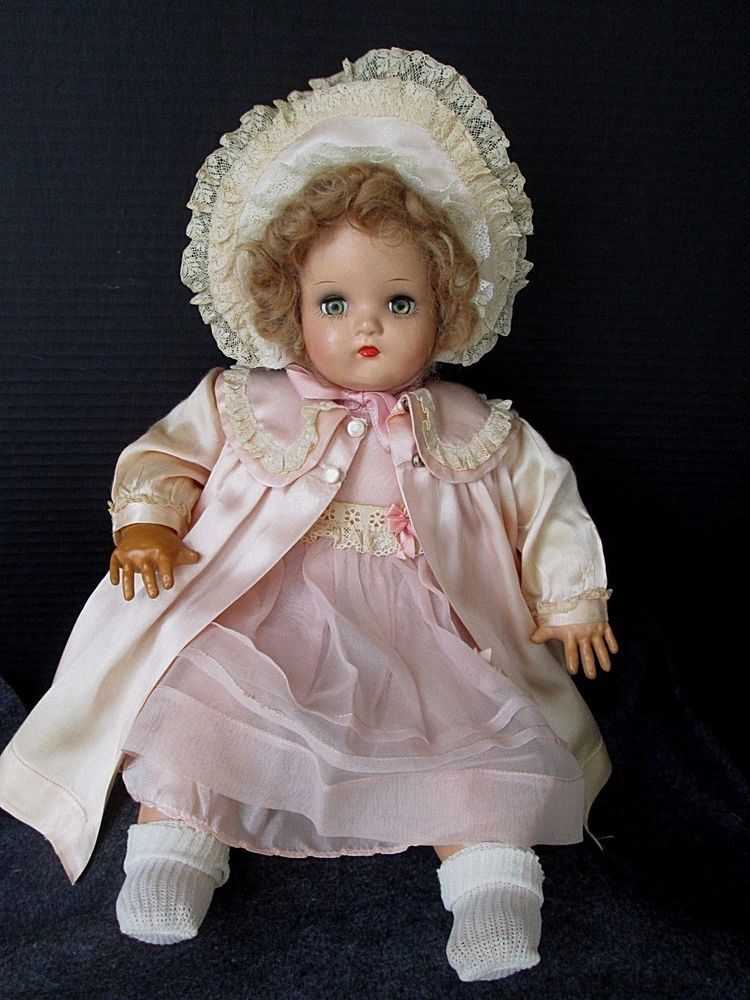 Vintage 1940 S Madame Alexander Little Genius Baby Doll 20 Quot Composition Cloth Madameal