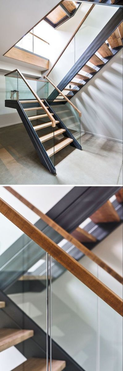 Best Floating Stairs Metal Glass Railing 34 Ideas 400 x 300