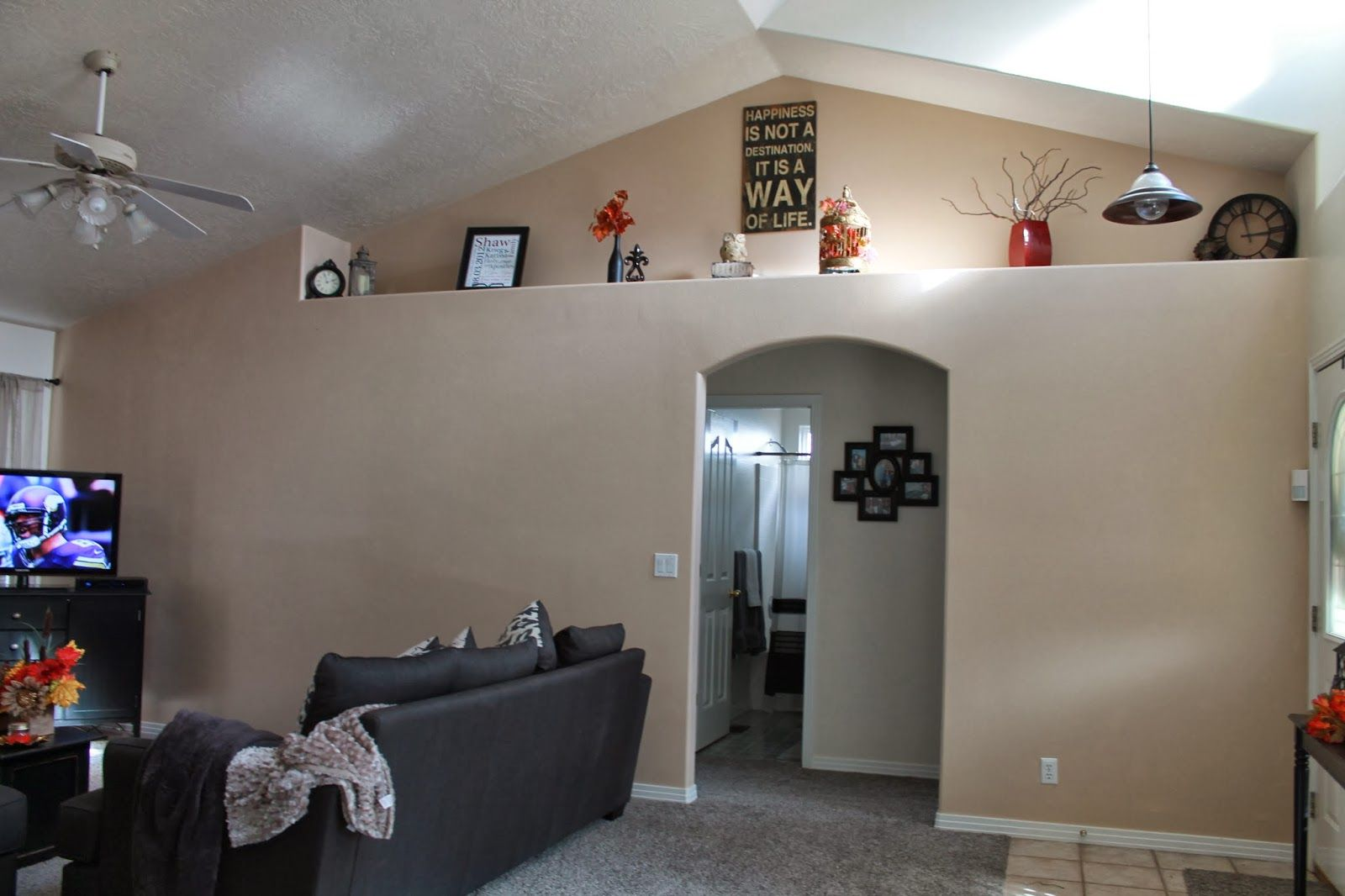 Pin by jill nissen on home decor living room decor wall - Living room ledge decorating ideas ...