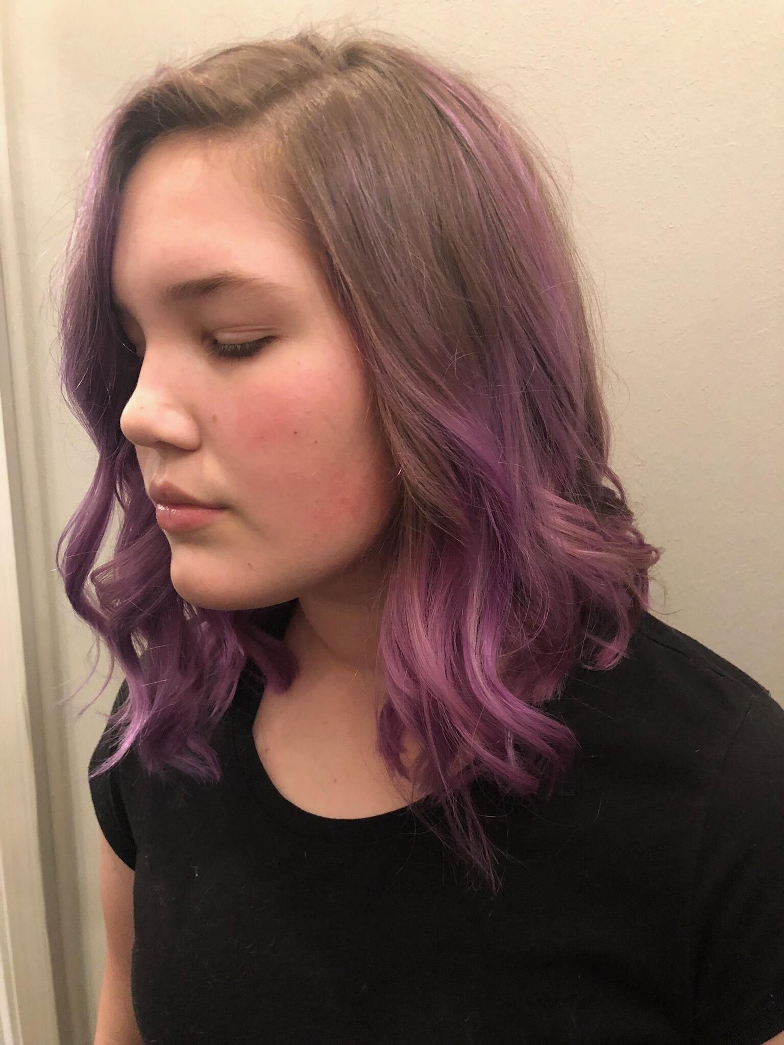 Color, Full Highlight and Haircut 150 Pastel shades of