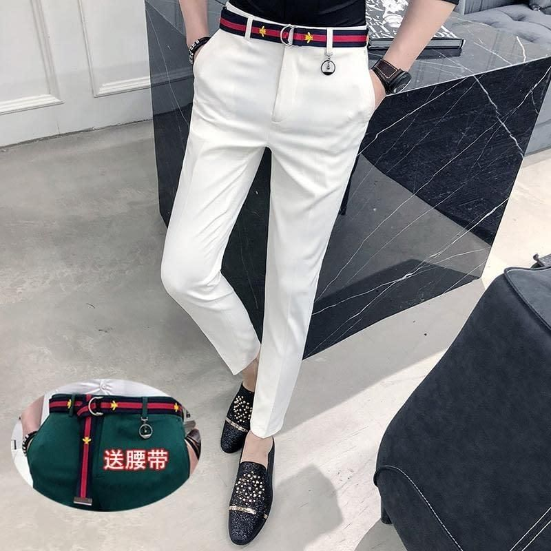 2020 2018 New Men'S Business Casual Pants Trousers Straight Pant Men Slim Fit Grey Black Big Size For Tall Men Good Quality Trouse From Dalivid,
