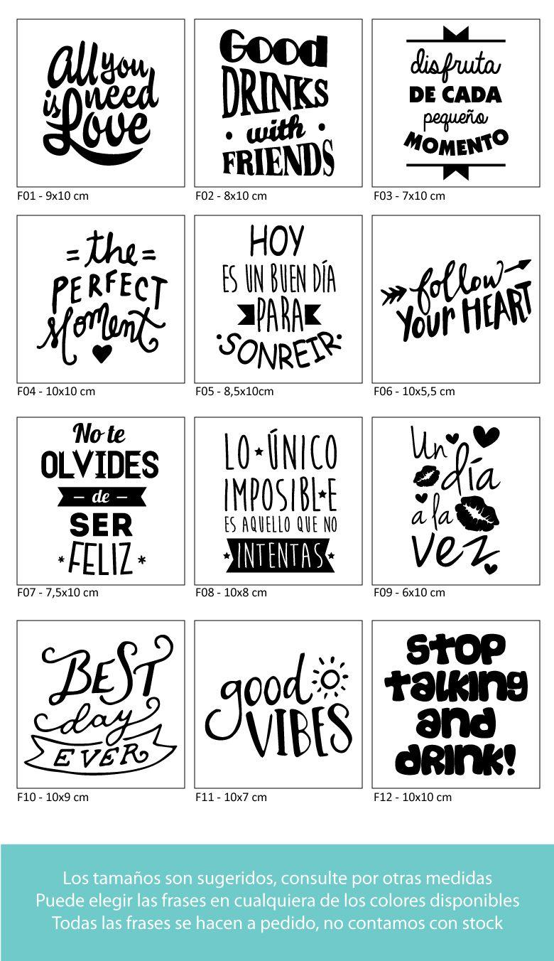 Letter | moda | Pinterest | Vinilos frases, Frascos y Mercadillos