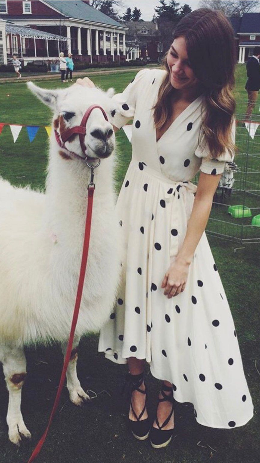 0d6fa93e8e7f Breanna Polka Dot Wrap Dress | Black & White | Dresses, Vintage ...
