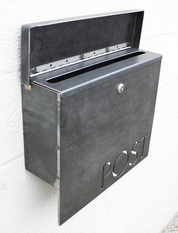 El Buzon Gibson Personalizado Acero Moderno Metal Carta Etsy Letter Box Metal Letters Wall Mount Mailbox