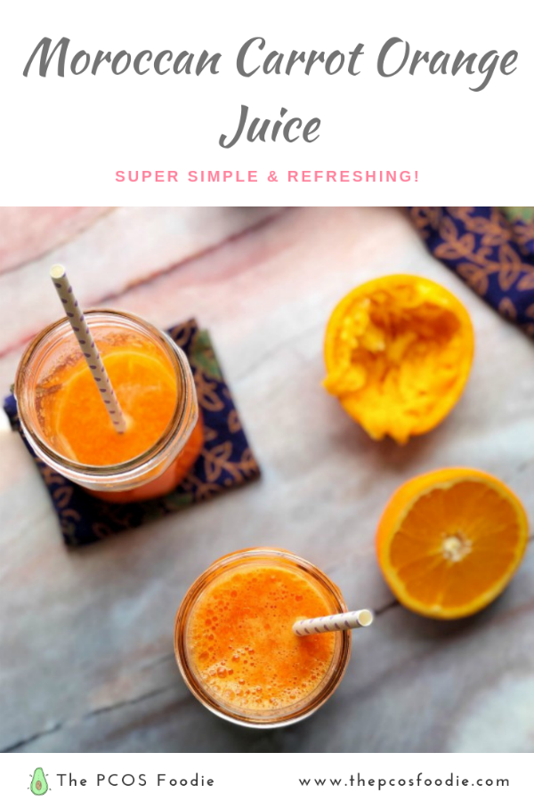 Moroccan Carrot Orange Juice The Pcos Foodie Moroccan Carrots Orange Carrot Juice Foodie