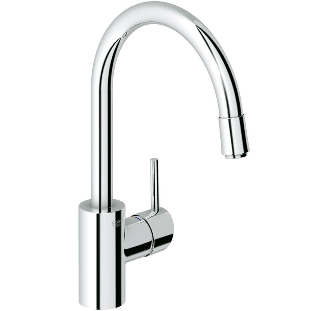 grohe concetto chrome pullout spout kitchen sink mixer tap 32663000