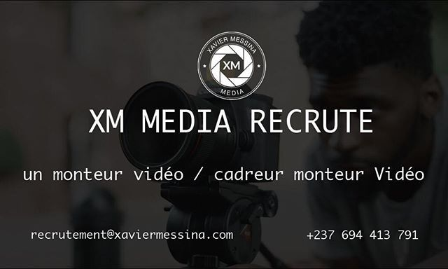 Xmmedia Recherche Un Cadreur Monteur Video H F Pour Assurer La Production De Contenus Videos Le Poste Requiert Creativite Instagram Organisation Movie Posters