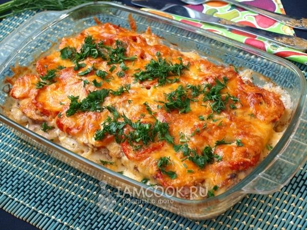 Картошка с фаршем в духовке (пошаговый рецепт)