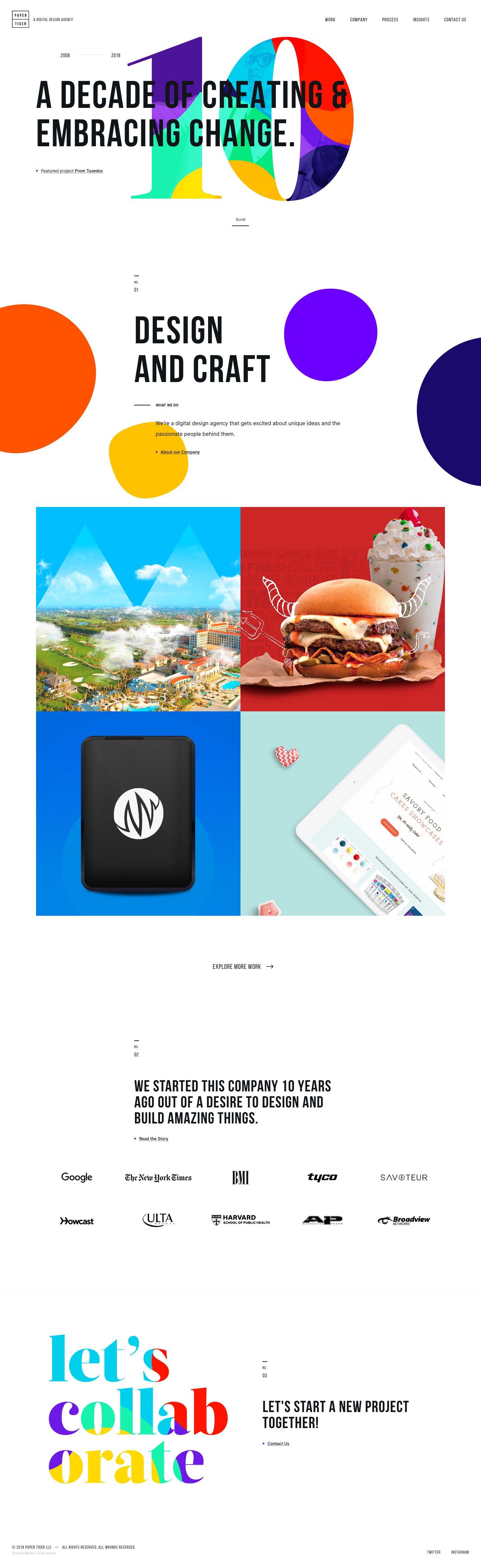 Home Paper Tiger Portfolio, Agence, Créatine