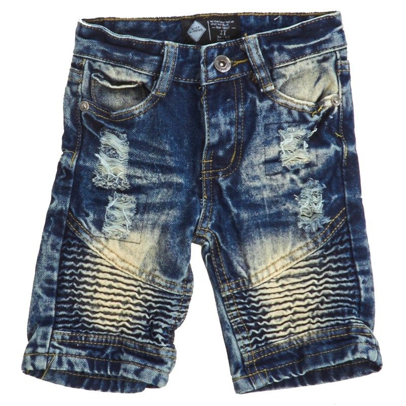 a660a7c771 Toddler Boys Ripped & Repaired Moto Stitch Denim Shorts | Baby ...