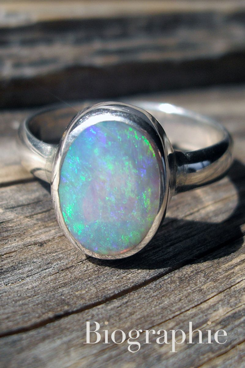 Black Australian Opal Ring In Sterling Silver At Biographie Com One Of A Kind Black Opal Ring Boutique Jewelry Artisan Jewelry Handmade