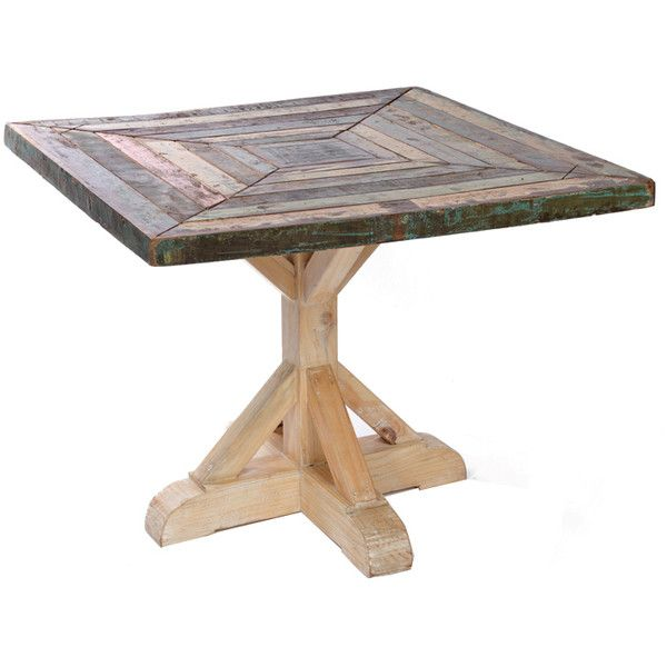 Reclaimed Boat Wood Bistro Table ($1,695) ❤ Liked On Polyvore Featuring  Home, Furniture