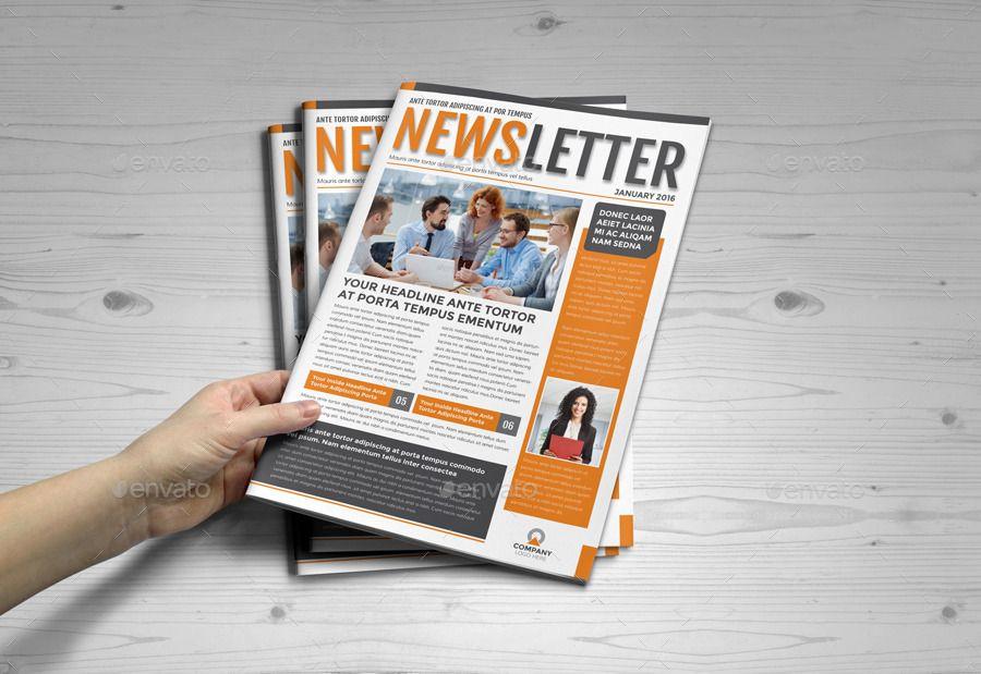 Indesign Newsletter | Newsletter Template V2 Indesign Newsletter Design Pinterest