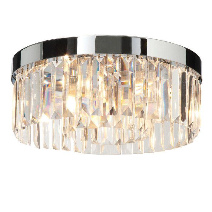 Saxby lighting crystal 5 light flush ceiling light reviews wayfair co uk