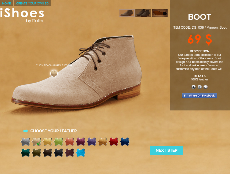 Men's custom made #ChukkaBoots. Only $69 Design Yours Today: http://bit.ly/1DM1oYt