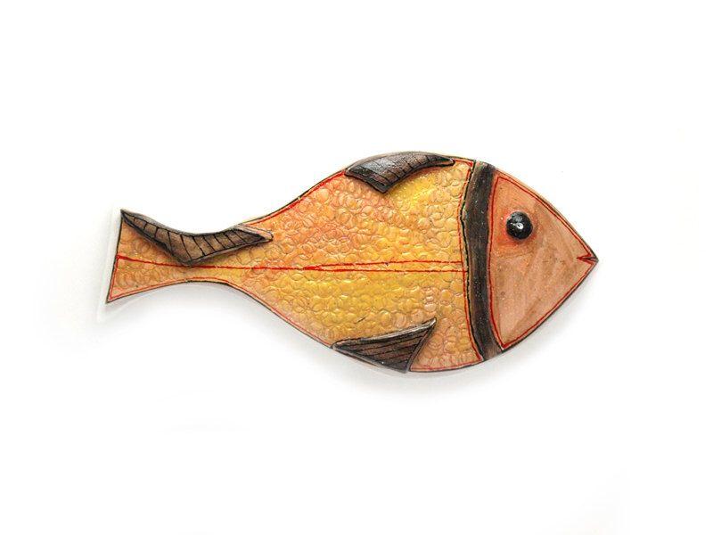 Fish ceramic wall art, Ceramic fish, Fish art , Fish home decor ...