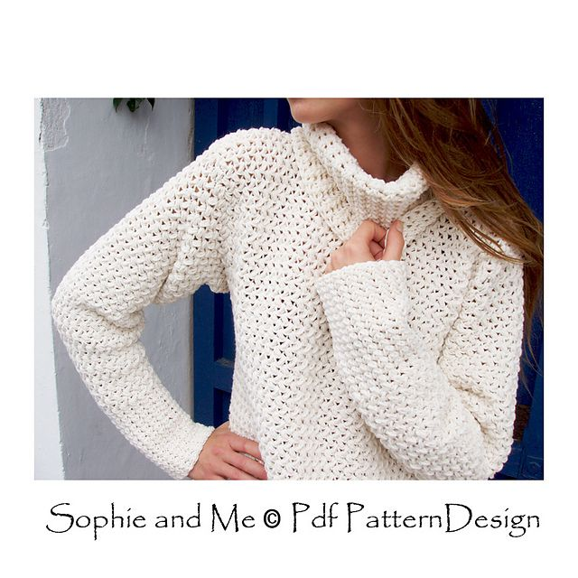 Basket Weave Sweater pattern by Sophie and Me-Ingunn Santini | Knit ...