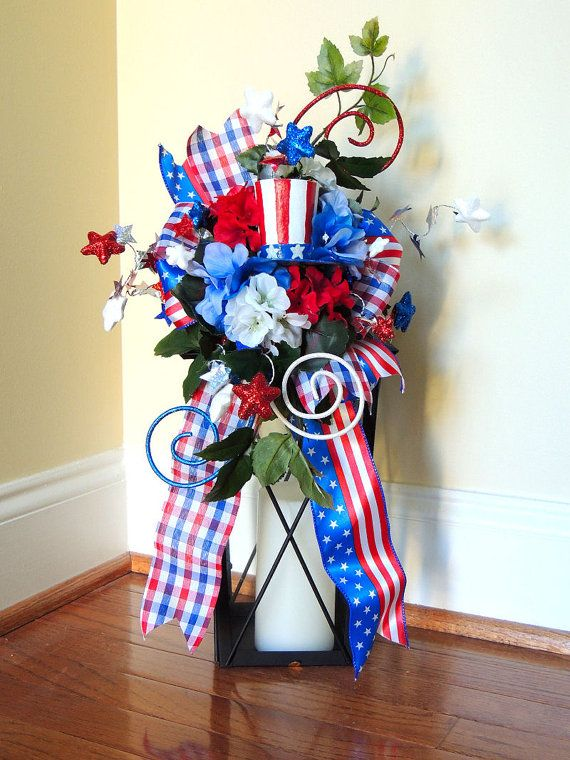 4th of July Lantern Swag July 4th by SparkleWithDesigns on Etsy