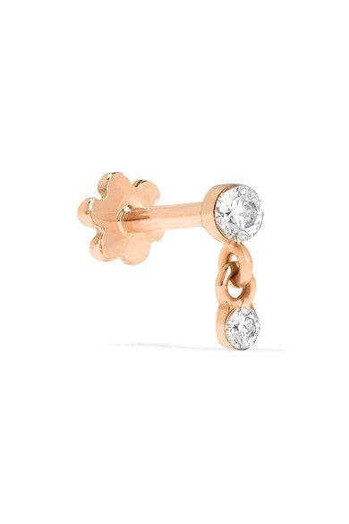 Mini 18-karat White Gold Diamond Earring - one size Maria Tash saSkvV4