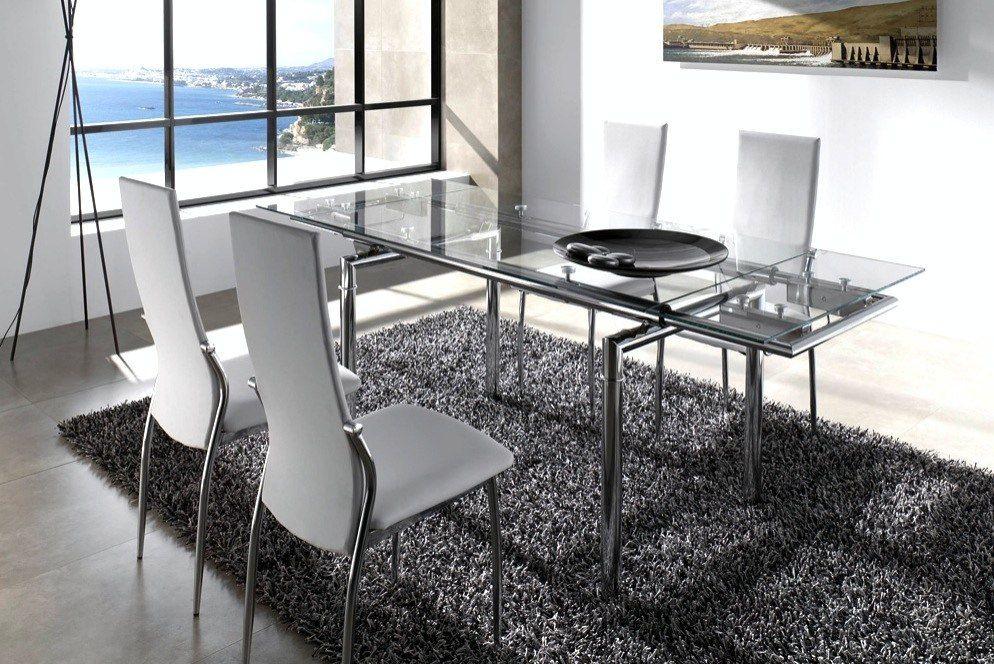 juego de comedor mesa extensible 4 sillas linea moderna